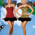 Dreamgirl Bumble Bee/Lady Bug 3 Pce Costume