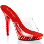 Pleaser Peep Toes with Clear Top