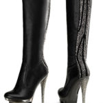 Pleaser 6″ Heel Leather Knee High Boot
