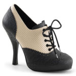 Pin Up Couture Vintage Inspired Oxford 4 ½ Heel Bootie with Hidden Platform