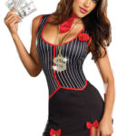 Dreamgirl 2 Pce 'Crime City Cutie' Gangster Costume