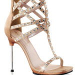 Fabulicious High Cage Sandal with 4 1/2″ Stiletto Heel