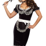 Dreamgirl 4 Pce Maid Costume