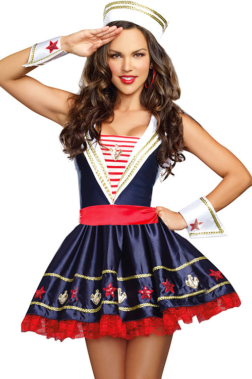 Dreamgirl 4 Pce Adorable Navy Costume